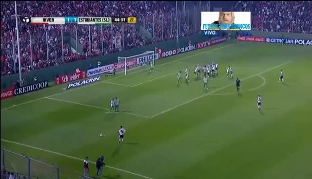 Watch and share Gol De Pity Martínez - River 2 - 1 Estudiantes (San Luis) - Copa Argentina 2016 GIFs on Gfycat