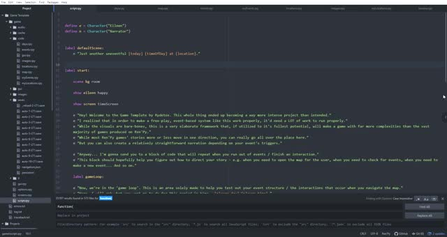 Watch and share Script.rpy — C Users ZIEGLER Documents Projects Game Template — Atom 2019-10-29 18-01-06 GIFs by rydetox on Gfycat