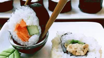 Watch and share Sushi Dipped In Soy Sauce GIFs on Gfycat