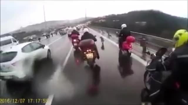 Watch Riders escort a dog to the end of a dangerous road GIF on Gfycat. Discover more HumansBeingBros, gifs, motorcycles GIFs on Gfycat