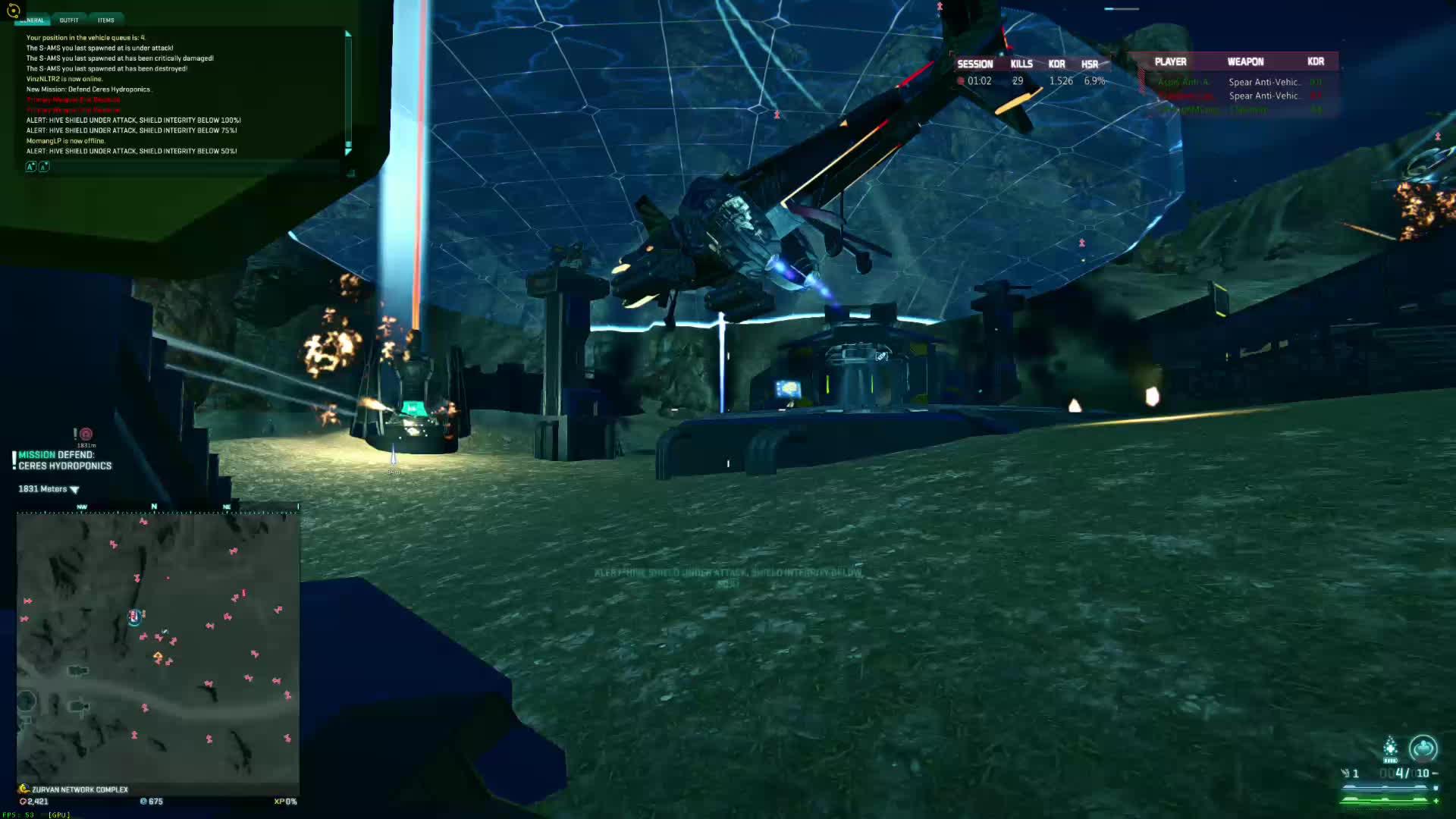 PS2Cobalt, construction, planetside 2, Planetside 2, HIVE gank by air platoon GIFs