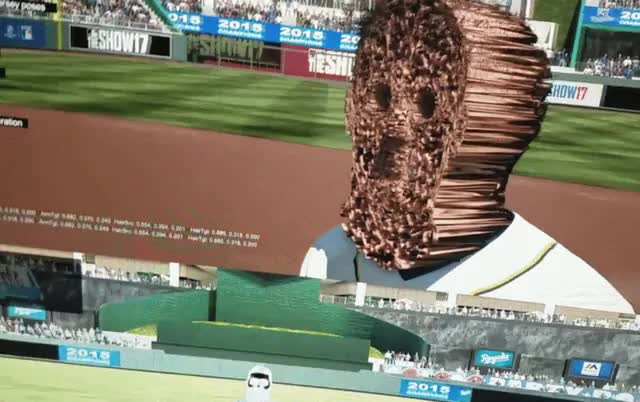 gaming, popular, trypophobia, A glitch in the new MLB: The Show produced these faces. (reddit) GIFs