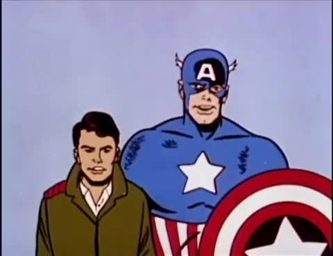 The 1966 Captain America Cartoon was insane GIF
