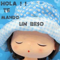 Watch and share HOLA TE MANDO UN BESO GIFs on Gfycat