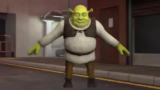 Shrek Dancing Sfm Music Christmas GIF