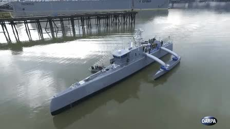 Watch and share DARPA ACTUV At Sea GIFs by Popular Science on Gfycat