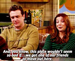 Watch gif mine himym Robin Scherbatsky marshall eriksen Lily Aldrin himymedit GIF on Gfycat. Discover more jason segel GIFs on Gfycat