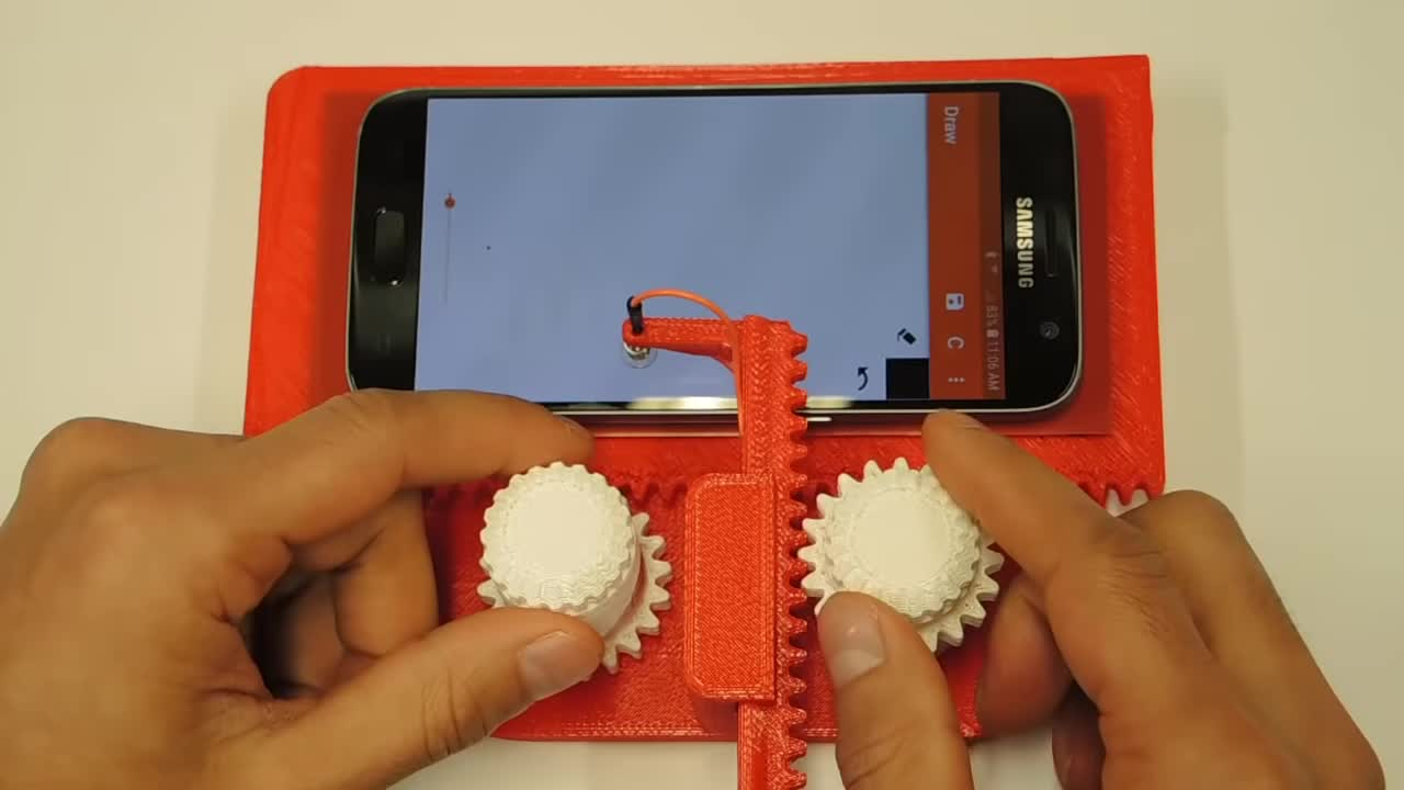 3D Printed Etch A Sketch for your phone GIFs