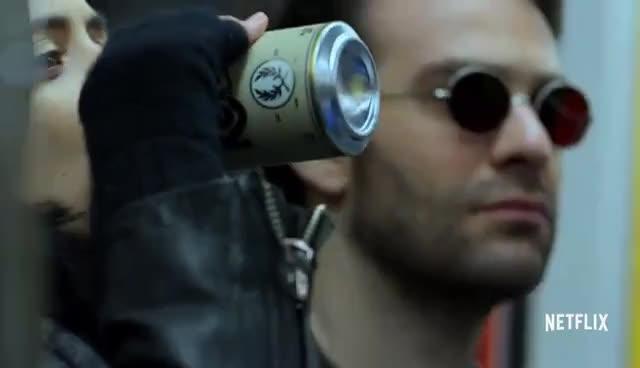 charlie cox, daredevil, defenders, jessica jones, krysten ritter, Marvel's The Defenders | Official Trailer 2 [HD] | Netflix GIFs