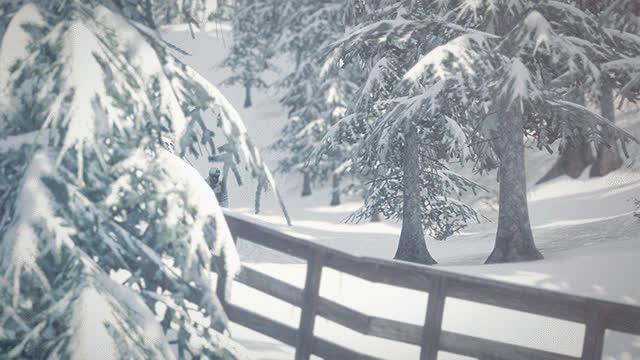 skiing, snowthegame, forest GIFs