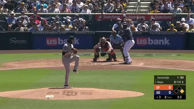 Watch Reyes mp4 Rockow GIF on Gfycat. Discover more San Diego Padres, San Francisco Giants, baseball GIFs on Gfycat