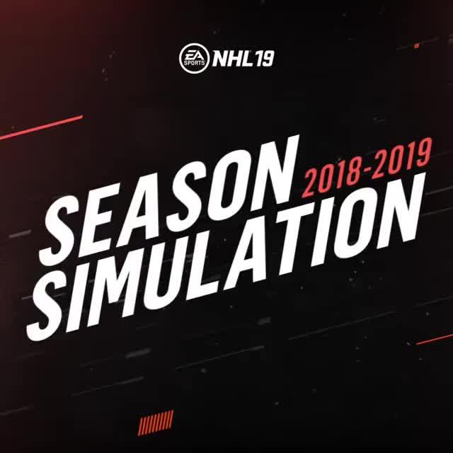 hockey, EA Sports NHL 2018-19 Season Simulation Results GIFs