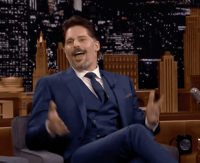 celebrate, celebrating, excited, fallon, happy, jimmy, joe, manganiello, show, sofia, success, tonight, vergara, victory, win, winner, woohoo, yay, yeah, yes, Joe Manganiello - Yes GIFs