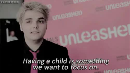 Watch and share Hesitant Alien GIFs and Gerard Way GIFs on Gfycat