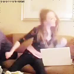 Watch Saoirse Una Ronan GIF on Gfycat. Discover more cute, dancing, gif, saoirse, saoirse ronan, video GIFs on Gfycat