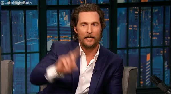 Watch and share Late Night With Seth Meyers GIFs and Matthew Mcconaughey GIFs on Gfycat
