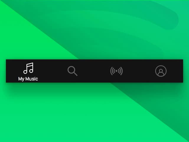 Watch and share Spotify App - Tab Bar Navigation GIFs on Gfycat
