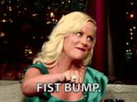 fist bump, amy poehler GIFs