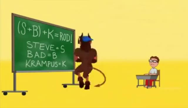 Watch and share American Dad - Minstrel Krampus - You Get The Rod GIFs on Gfycat