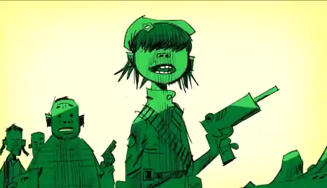 Watch Gorillaz - Rhinestone Eyes GIF on Gfycat. Discover more gorillaz, noodle, rhinestone eyes, russel GIFs on Gfycat