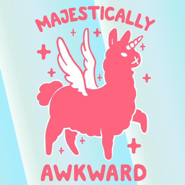 awkward, look human, majestic, unicorn, Majestically Awkward GIFs