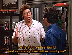 Watch Quote that show GIF on Gfycat. Discover more 5x12, 90s, 90s Shows, Kramer, Michael Richards, Seinfeld, The Stall, jerry seinfeld, mine, season 5, series quotes, show, television, tv, you are crazy GIFs on Gfycat