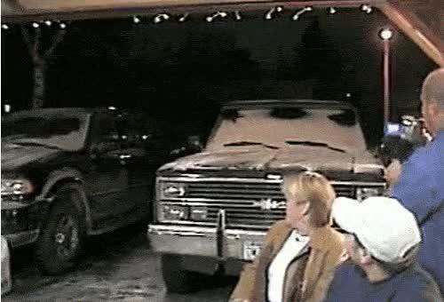 Watch and share Santa Falls Car Bonet Father Christmas GIFs on Gfycat