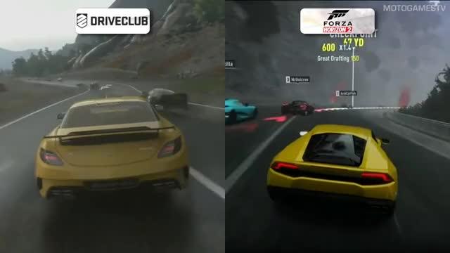 DriveClub Vs Forza Horizon 2 - Rain Weather Gamescom 2014
