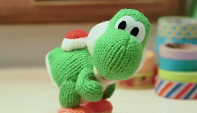Watch and share Animation - 3DS - Poochy And Yoshi's Woolly World GIFs on Gfycat