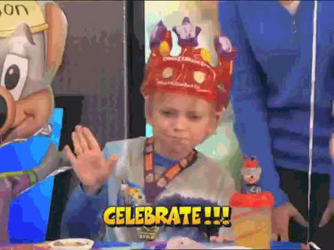 arcade, birthday, birthday party, celebrate, chuck e cheese, excited, happy, happy birthday, party, Chuck E. Cheese GIFs
