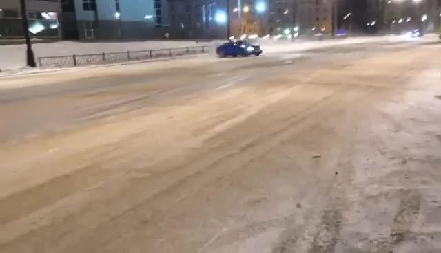 audi, bus stop, crash, Audi drift GIFs