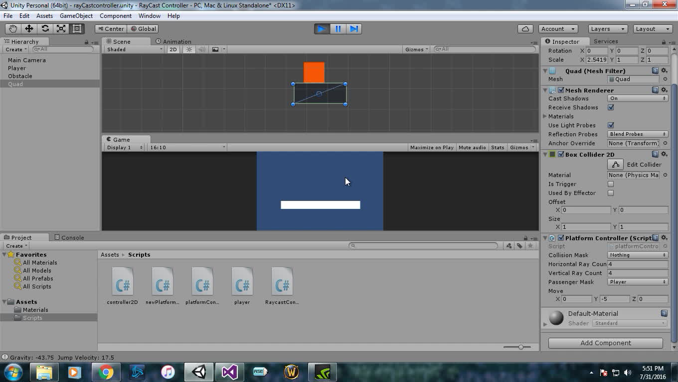 unity2d, Sebastian's Moving Platform Tutorial (Episode 6) help. (reddit) GIFs