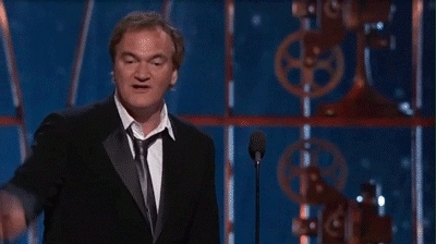Quentin Tarantino, plays out GIFs