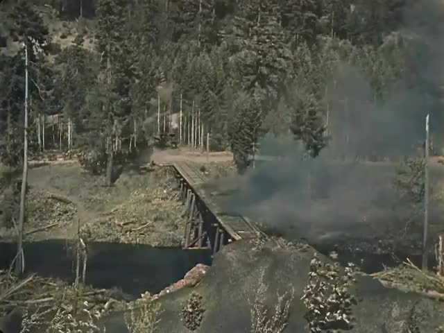 Watch and share The Most Expensive Scene In The Silent Cinema (Buster Keaton - The General 1926 Colorized) GIFs by MyNameGifOreilly on Gfycat