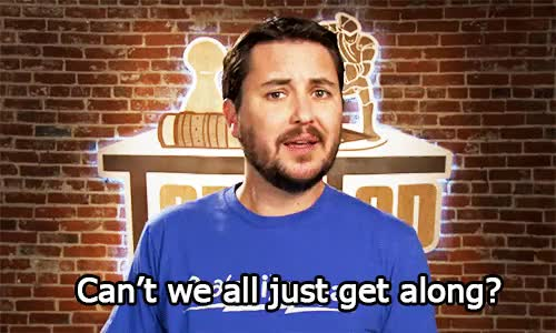 Watch get along GIF on Gfycat. Discover more wil wheaton GIFs on Gfycat