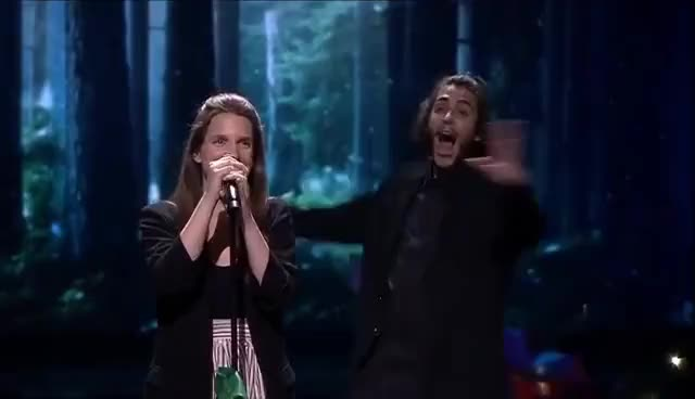 Watch and share Portugal: 'Amar Pelos Dois' | Salvador Sobral - Winners Of Eurovision 2017: Grand Final - BBC One GIFs on Gfycat