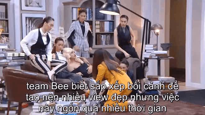 Để giành chiến thắng đầu tiên của The Face, Bee Namthip phải lăn xả thị phạm như thế này!