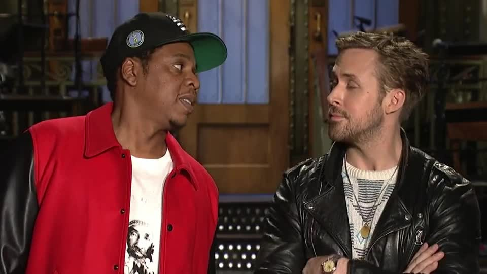 gosling, jay, jay z, jay-z, jayz, laugh, live, lol, night, recent, ryan, ryan gosling, saturday, shawn carter, smile, snl, trending, z, Ryan Gosling & Jay-Z: Together Again at Last - SNL GIFs