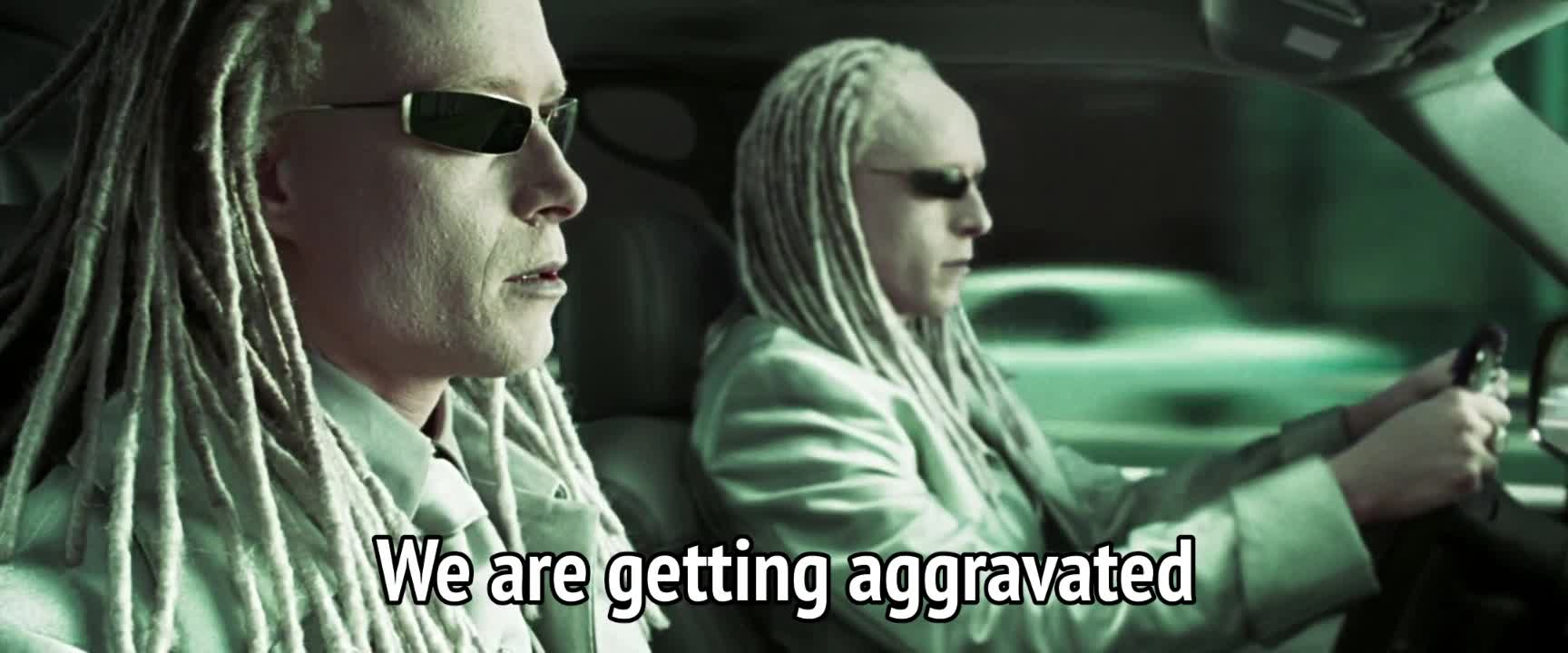 annoyed, frustrated, frustrating, matrix, the matrix, The Matrix Reloaded - We are getting aggravated GIFs