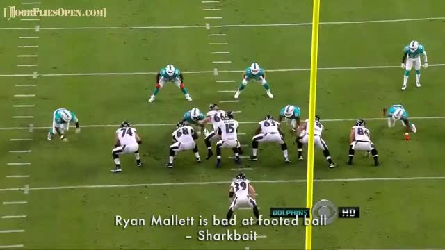 Watch Ryan Mallett is bad at footed ball - Sharkbait GIF by Unsurprised (@unsurprised) on Gfycat. Discover more BALvsMIA, baltimore, baltimore ravens, dfo, dolphins, door flies open, doorfliesopen, doorfliesopen.com, football, miami, miami dolphins, nfl, quotables, ravens, roger goodell is a national disgrace, ryan mallett GIFs on Gfycat