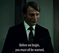 Watch and share Hannibal Lecter GIFs and Mads Mikkelsen GIFs on Gfycat