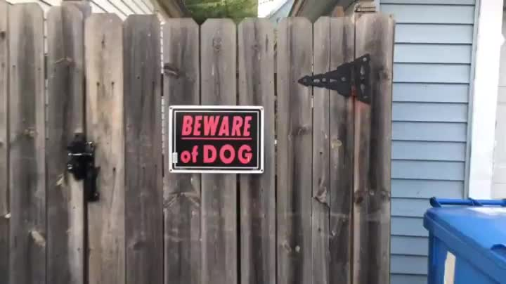 BEWARE of DOG - (GallowBoob) GIFs