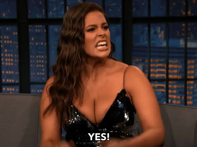 Watch and share Ashley Graham GIFs and Yes GIFs by Reactions on Gfycat