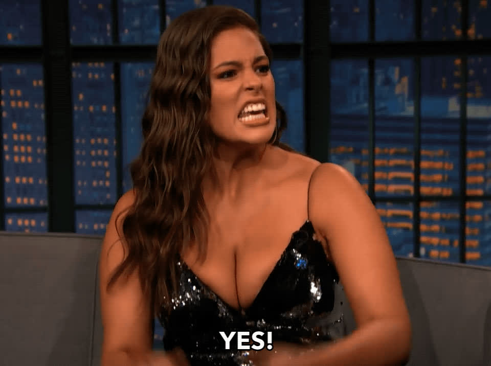 Ashley Graham, excited, yas, yas queen, yes, Ashley Graham Yes GIFs