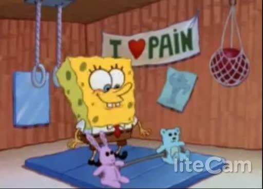 SpongeBob Weightlifting GIFs