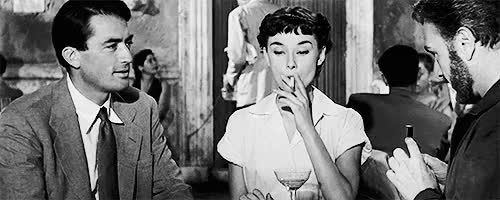 Watch this audrey hepburn GIF on Gfycat. Discover more *, 1950s, audrey hepburn, gregory peck, love this scene she was so cute in this, my gifs, roman holiday GIFs on Gfycat