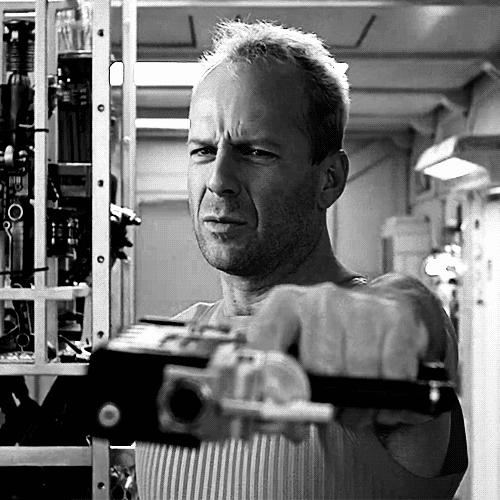 58th Birthday, Action Hero, Bruce Willis, Happy Birthday, Korben Dallas, OLDSCHOOL, The Fifth Element, poobrownthenerd.tumblr.com, post023, Bruce willis GIFs