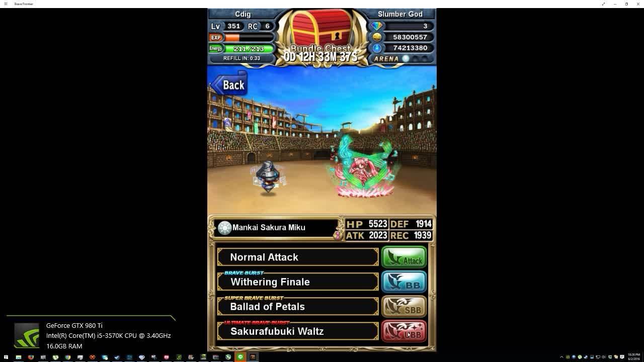 bravefrontier, Hmmm... so Sakura Miku's on Windows is a battle maiden. (reddit) GIFs