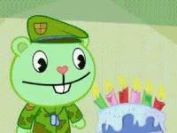 Watch and share Birthday, Cake, Flippy, Cute, Animal GIFs on Gfycat