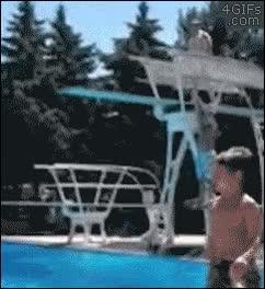 Watch and share TiaPSsW Diving Board Slip And Fall GIFs on Gfycat